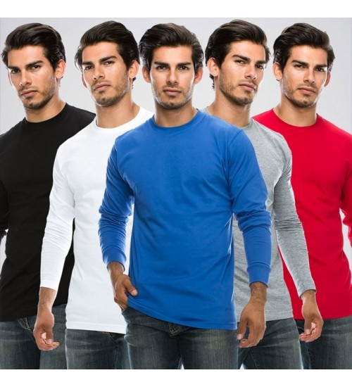 Pack of 3 Full sleeve Roundneck Tshirts for Him
