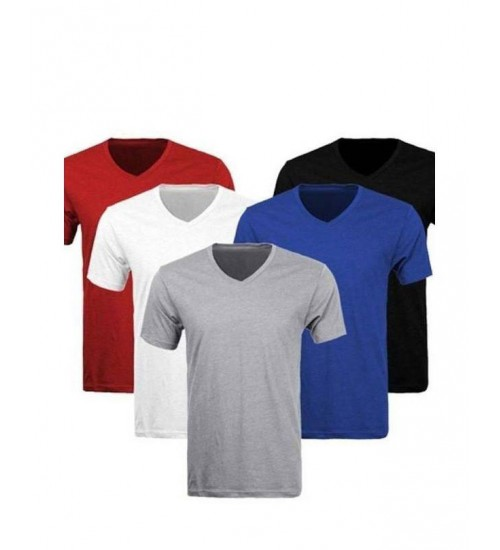 Pack of 5 Half sleeve Vneck Tshirts for Him